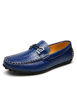 Embossed Pu Low Cut Loafers