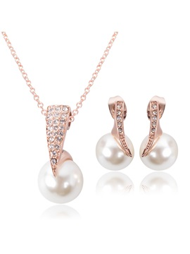 Hot Sale Rhinestones Women Jewelry Set Including Necklace And Earrings