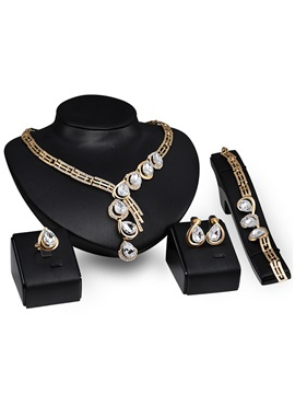 Hollow Graceful E Plating Women Jewelry Set