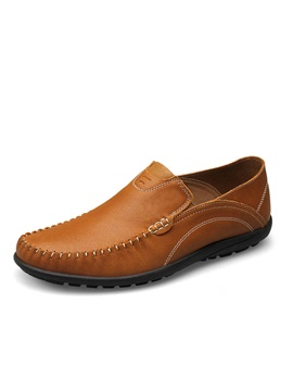 Breathable Pu Thread Slip On Loafers For Men