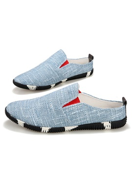 Colored Sole Slip On Loafers