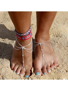 European Style Alloy Women Anklets Price For A Pair