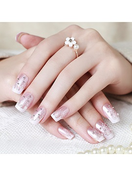 White Snow Pattern Nail Art Patch