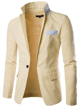 Faux Chest Pocket One Button Slim Fit Mens Blazer