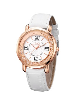 Rhinestones Water Resistant Women Watch