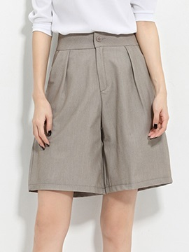 Vintage High Waist Pleated Short