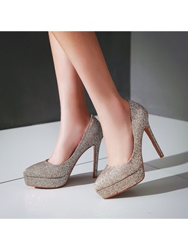 Elegant Sequins Platform Pumps