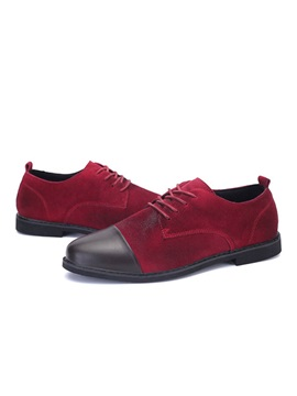 British Suede Cape Toe Mens Casual Shoes