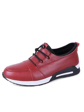 Pu Lace Up Casual Shoes For Men