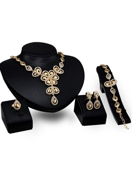 European Style Rhinestones Fashion Jewelry Set For Women
