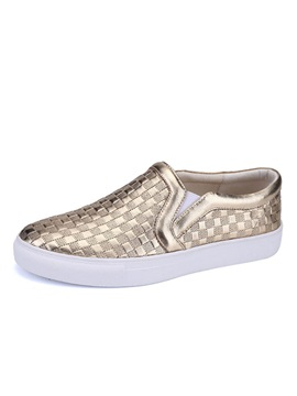 Embossed Pu Slip On Skater Shoes