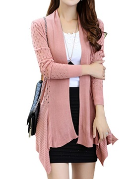 Stylish Hollow Back Slim Cardigan