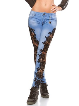 Delicate Lace Pencil Jean
