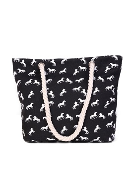 Horse Pattern Women Tote Bag