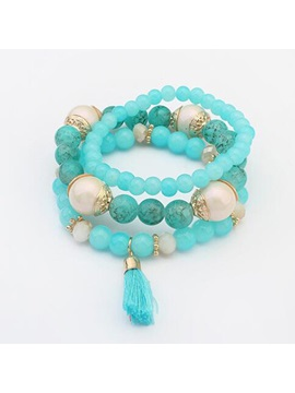 Multi Layer E Plating Women Bracelet With Tassel