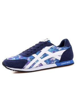 Breathable Printed Lace Up Sport Shoes