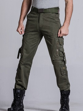 Plus Pockets Loose Fit Mens Casual Pants