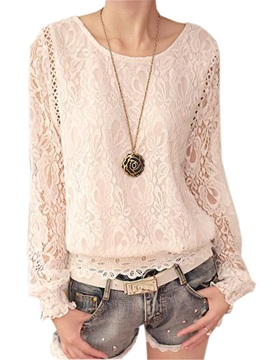 Special See Through Sleeves Lace Blouse