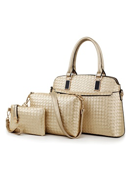 Hot Sale Weaving Women Bag Set 3 Pieces