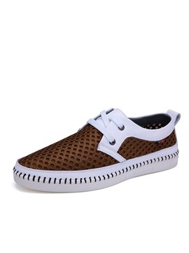 Mesh Thread Lace Up Mens Casual Shoes