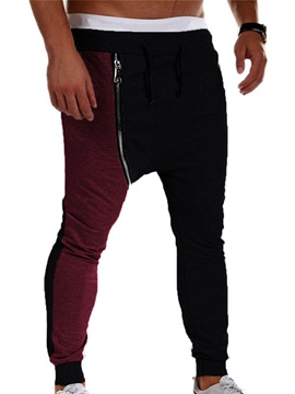 Zipper Mens Sports Casual Pants