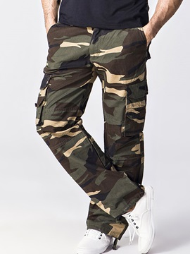 Camouflage Straight Mens Loose Fit Casual Pants