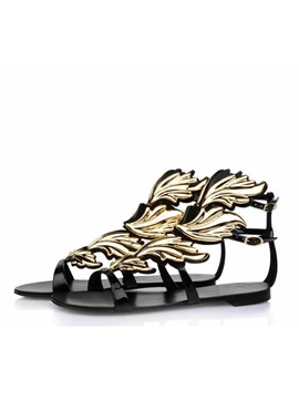 Retro Open Toe Flat Sandals
