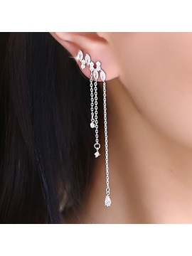 Splendid Crystal Asymmetric Stud Earrings