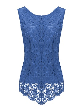 Special Hem Lace Slim Tank Top