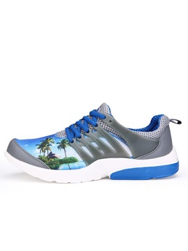 Printed Lace Up Sport Shoes