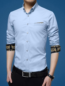 Color Block Mens Slim Fit Shirt