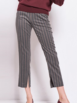 Vintage Stripe Side Slit Pant