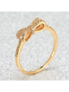 Korean Style Bowknot Decorated Women Ring