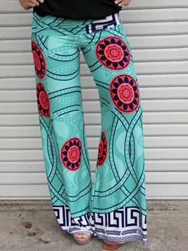 Multicolor Printing Wide Leg Pant