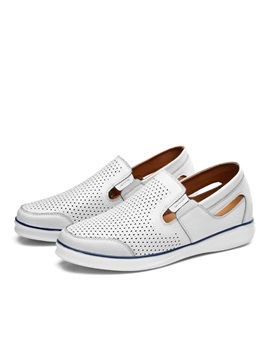 Breathable Round Toe Slip On Casual Shoes