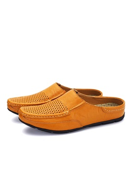 Breathable Pu Mules For Men