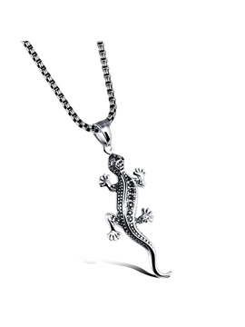 Creative Lizard Mens Pendant Necklace