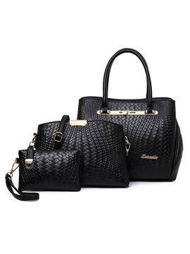 Chic Croco Embossed Womens Bag Set Three Bags
