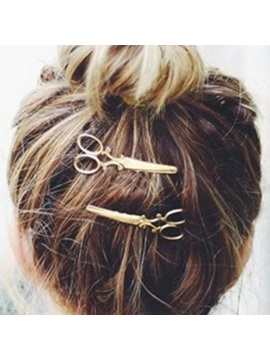 Lovely Small Scissors Shape Womens Hairpin