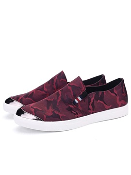 Camouflage Color Low Cut Canvas Shoes For Men