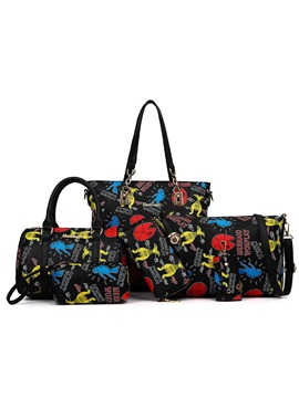 Noble Cartoon Pattern Printed Bag Set