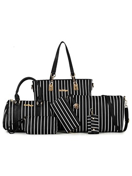 Fashion Stripe Style Womens Bag Set Six Bags