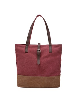 Bucket Decorated Womens Canvas Bag