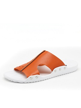 Stars Pu Cut Out Beach Sandals For Men