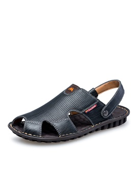 Breathable Pu Slingback Mens Sandals