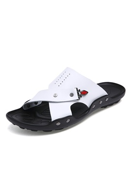Breathable Pu Slip On Beach Sandals