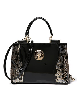 High Quality Floral Decorated Womens Handbag