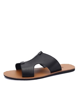 Pu Open Toe Mens Flip Flops