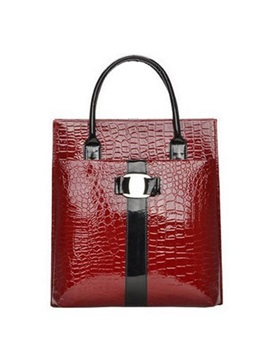 Well Matched Croco Embossed Womens Tote Bag