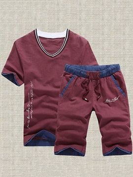 Letter Printed Mens Outfits With